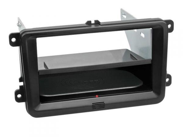 2-DIN RB Inbay® gummiert Seat / Skoda / VW schwarz - Qi-Standard