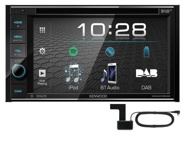 Kenwood DDX4019DAB - 2-DIN Multimedia-Monitor DAB+ - inkl. DAB+Antenne
