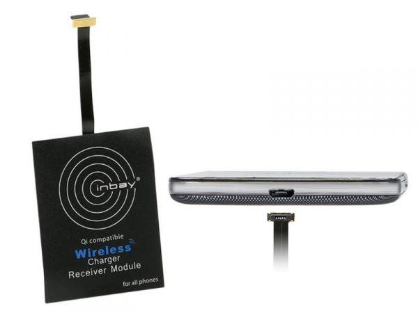 Inbay® Universaler Induktiver Qi-Ladeempfänger USB unten - Qi-Standard