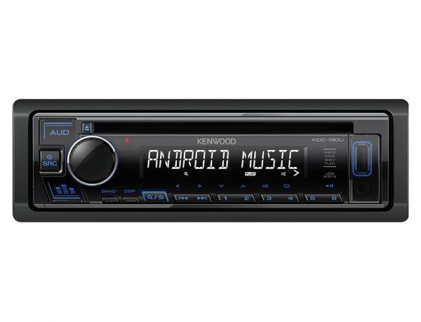 Kenwood KDC-130UB - Autoradio mit USB - blaue Tastenbeleuchtung