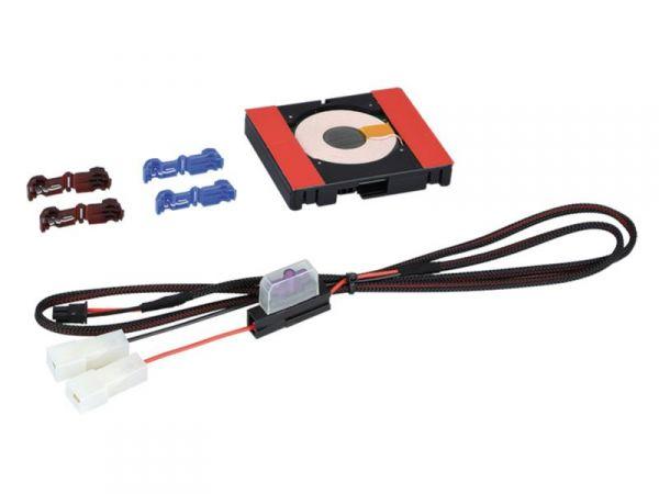 Inbay® Nachrüst-Kit - 1 Spule - Anschluss an das 12V Bordnetz - Qi-Standard