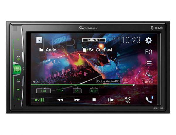 Pioneer MVH-A210BT - 2-DIN laufwerkloser Monitor mit Bluetooth, USB