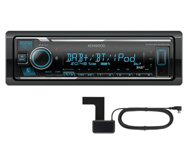 Kenwood KMM-BT505DAB - Autoradio ohne Laufwerk mit DAB+, Bluetooth und USB