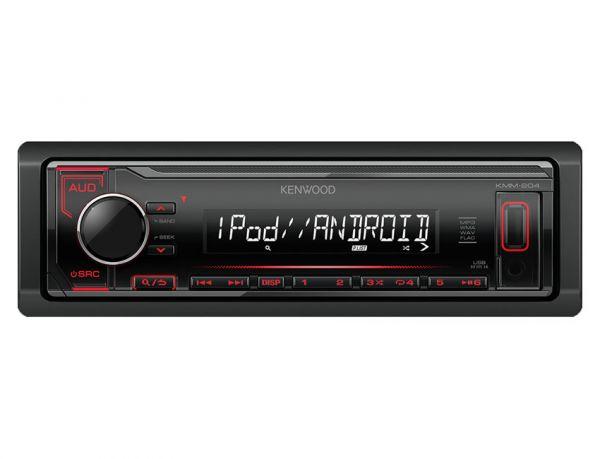 Kenwood KMM-204 - Autoradio ohne Laufwerk mit roter Tastenbeleuchtung