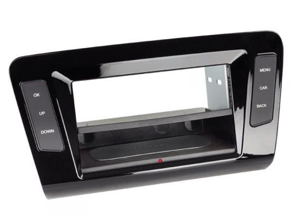 2-DIN RB Inbay® Skoda Octavia Klavierlack/schwarz ab 2013 - Qi-Standard