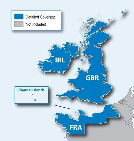 SD-Datenkarte Garmin Großbritannien und Irland