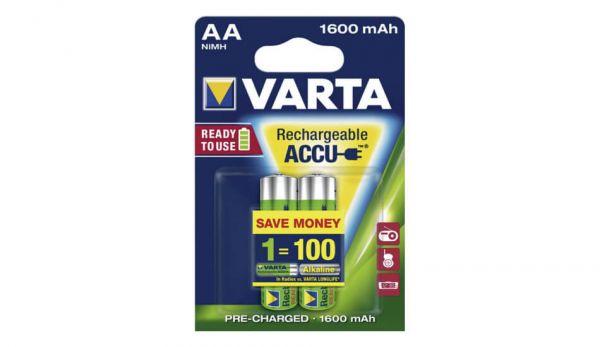 VARTA Rechargeable Akku AA Mignon 1600mAh - 56716101402