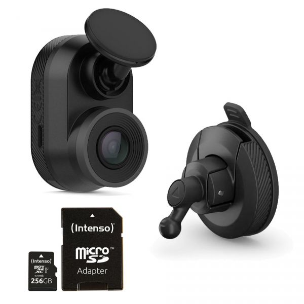 Komplett-Set Garmin DashCam Mini + 256GB Micro-SD + Saughalter