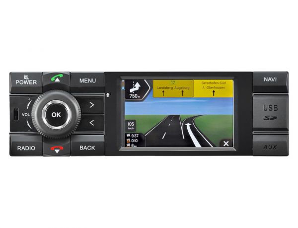 1 din autoradio mit navigation pkw axion mcr1031nav. Black Bedroom Furniture Sets. Home Design Ideas