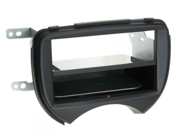 2-DIN RB Inbay® Nissan Micra schwarz ab 2011 - Qi-Standard