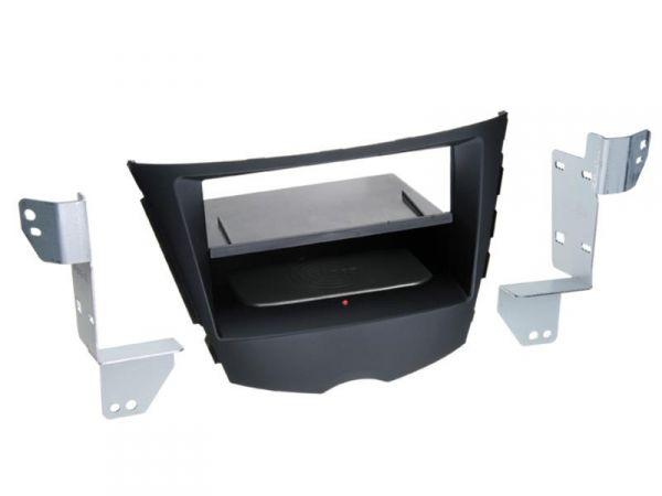 2-DIN RB Inbay® Hyundai Veloster schwarz ab 2010 - Qi-Standard