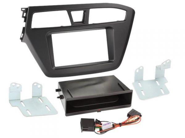 2-DIN RB Inbay® Hyundai I20 schwarz ab 2014 - Qi-Standard