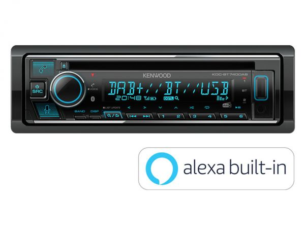 Kenwood KDC-BT740DAB - Autoradio mit DAB+, Alexa, Bluetooth, USB, Remote App