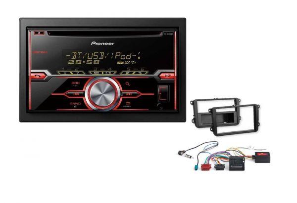 autoradioset vw mit pioneer fh x730bt bluetooth radio einbaumaterial. Black Bedroom Furniture Sets. Home Design Ideas
