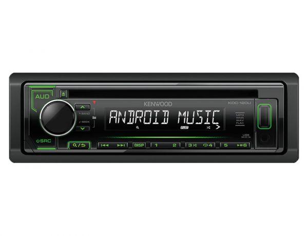 Kenwood KDC-120UG - Autoradio mit USB - grüne Tastenbeleuchtung