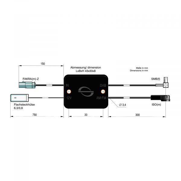 ATTB Rundfunkverteiler AM/FM / DAB/DAB+ bei Verwendung 4724.01