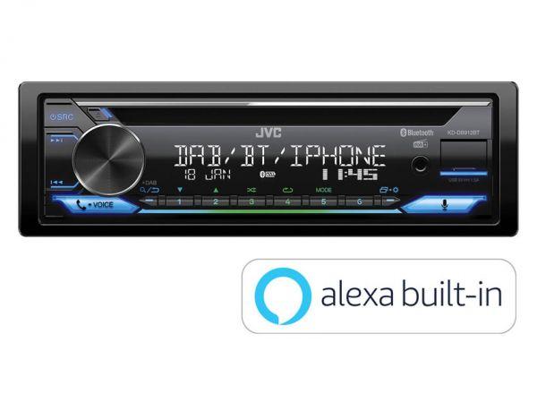 JVC KD-DB912BT - Autoradio mit DAB+, Alexa, Bluetooth, Spotify