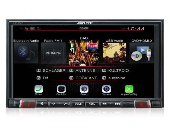 Alpine iLX-702DM Digital Media Station mit kapazitivem 7 Zoll Display