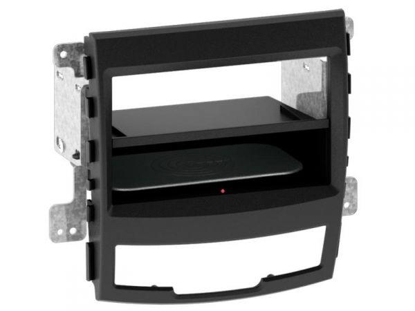 2-DIN RB Inbay® Ssangyong Korando schwarz ab 2010 - Qi-Standard