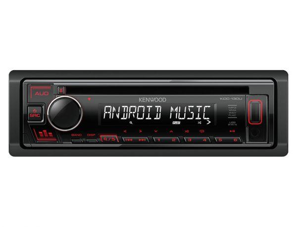 Kenwood KDC-130UR - Autoradio mit USB - rote Tastenbeleuchtung