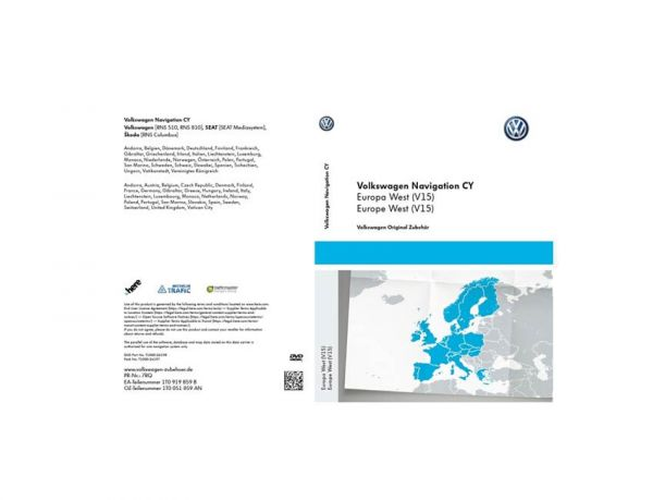 DVD-ROM CY Europa West (V15) - 1T0 051 859 AN
