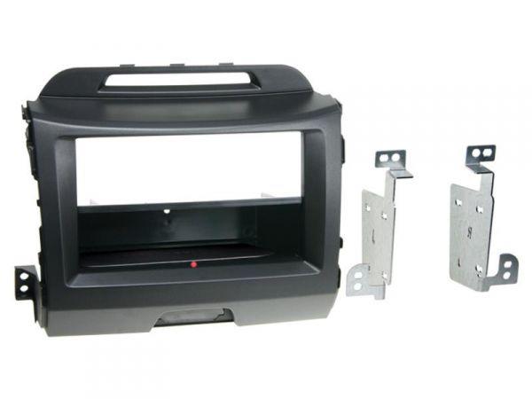 2-DIN RB Inbay® Kia Sportage schwarz ab 2010 - Qi-Standard