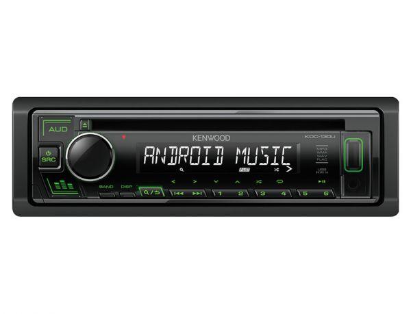Kenwood KDC-130UG - Autoradio mit USB - grüne Tastenbeleuchtung