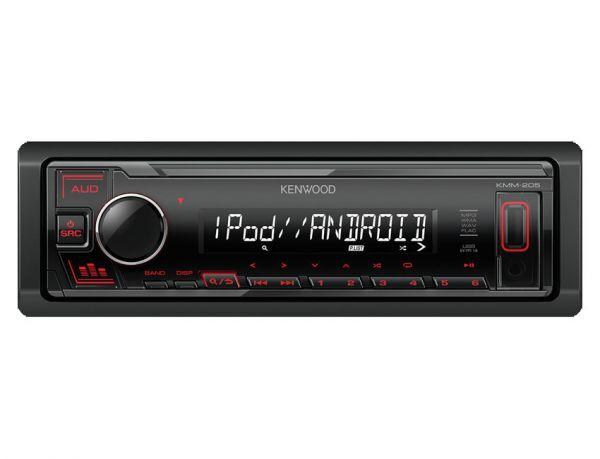 Kenwood KMM-205 - Autoradio ohne Laufwerk mit roter Tastenbeleuchtung