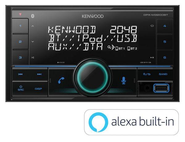Kenwood DPX-M3200BT - Autoradio mit Alexa, Bluetooth, USB, Remote App