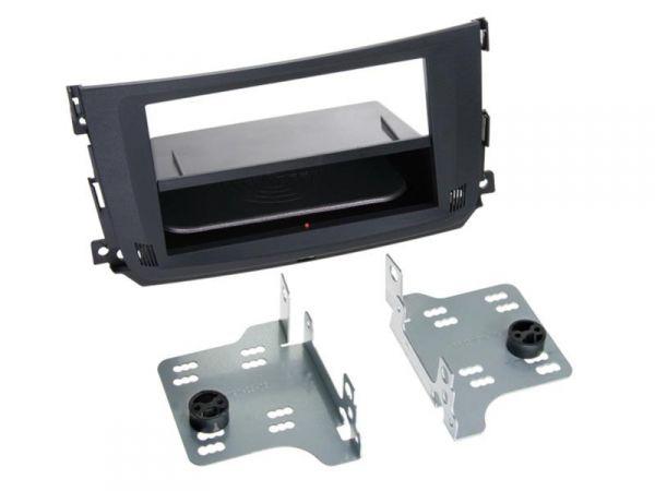 2-DIN RB Inbay® Smart ForTwo schwarz ab 2010 - Qi-Standard