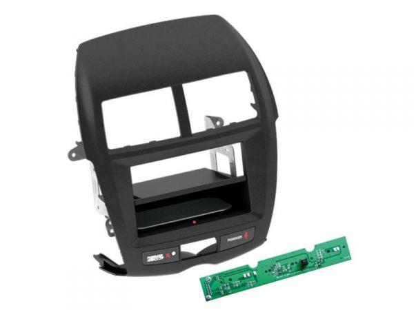 2-DIN RB Inbay® Mitsubishi ASX schwarz ab 2010 - Qi-Standard