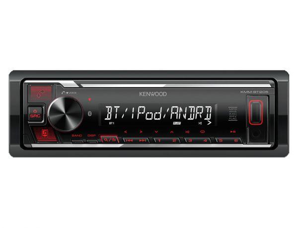 Kenwood KMM-BT205 - Autoradio ohne Laufwerk mit Bluetooth, rote Tasten