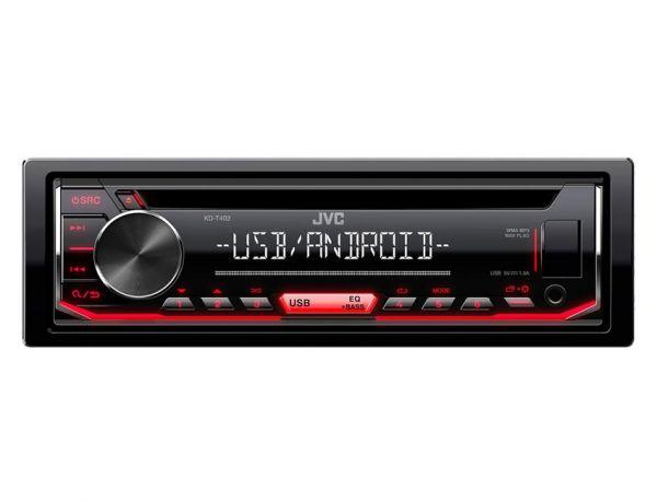 JVC KD-T402 - Autoradio mit CD, USB - rote Tastenbeleuchtung