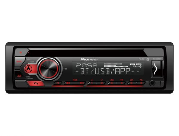 Pioneer DEH-S310BT - Autoradio mit Bluetooth, USB - rote Tastenbeleuchtung