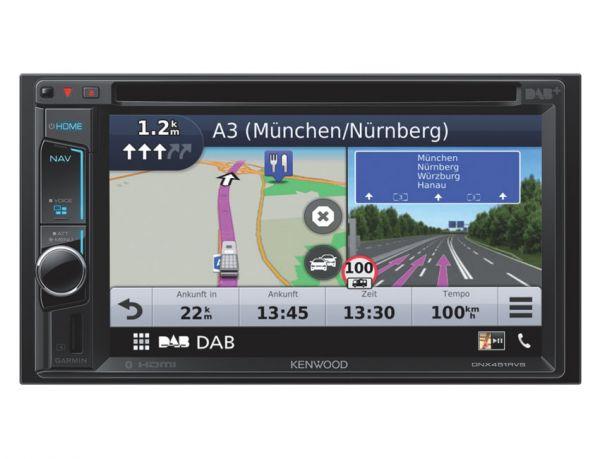 Kenwood DNX451RVS - Caravan/ LKW Navigation mit DAB+, Apple CarPlay