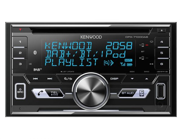 Kenwood DPX7100DAB - 2-DIN Autoradio mit Bluetooth und DAB+, USB, AUX