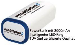 Klio Powerbank Power+ 2600mAh - mobilplus-Kollektion