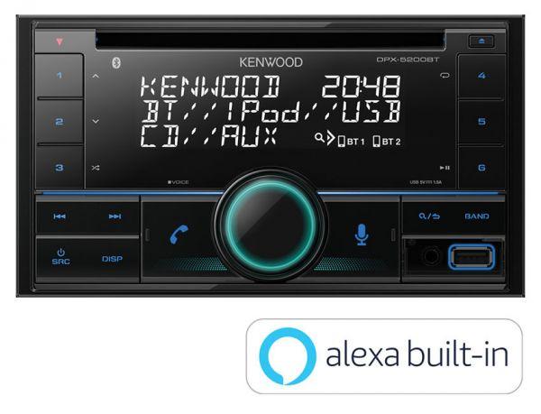 Kenwood DPX-5200BT - Autoradio mit Alexa, Bluetooth, USB, Remote App
