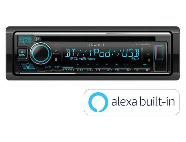 Kenwood KDC-BT640U - Autoradio mit Amazon Alexa, Bluetooth, USB, Remote App