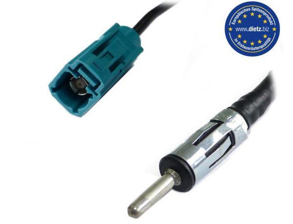 Antennenkabel / Verlängerung 5m - RG 174, FAKRA(f) - 150 Ohm Stecker für FM
