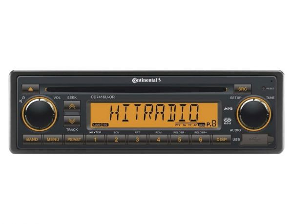 Continental CD7416U-OR CD-Tuner/AUX/USB/Bluetooth/DAB+