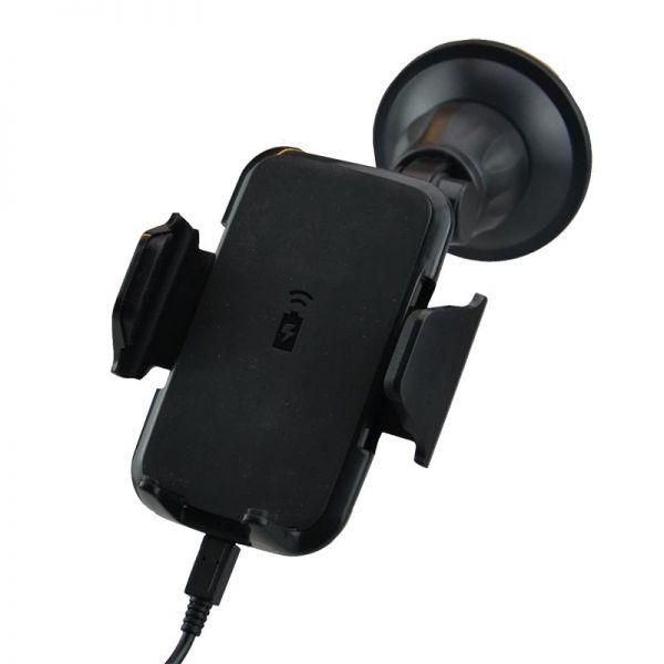 Fix2car Halter Universal Saugnapf mit kabellosem Laden - Qi-Standard