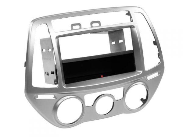 2-DIN RB Inbay® Hyundai i20 manuelle Klimaanlage silber - Qi-Standard