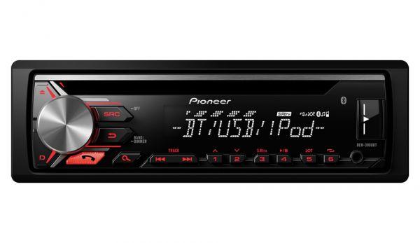 Pioneer DEH-3900BT - Autoradio mit Bluetooth - rote Tastenbeleuchtung