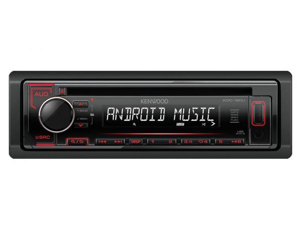 Kenwood KDC-120UR - Autoradio mit USB - rote Tastenbeleuchtung