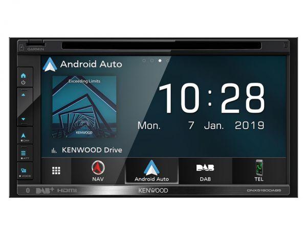 Kenwood DNX5190DABS - 2-DIN Navigation mit Apple CarPlay, Android-Auto, DAB+