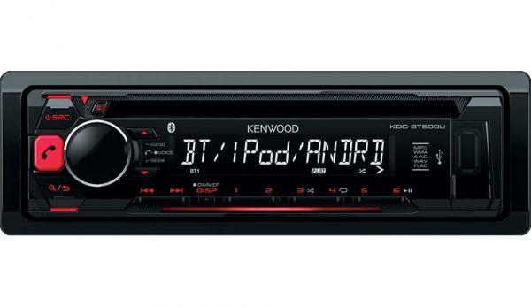 Kenwood KDC-BT500U - Autoradio mit Bluetooth - rote Tastenbeleuchtung
