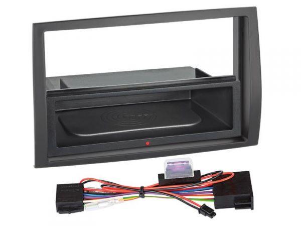 2-DIN RB Inbay® gummiert Fiat / Citroen / Peugeot schwarz - Qi-Standard