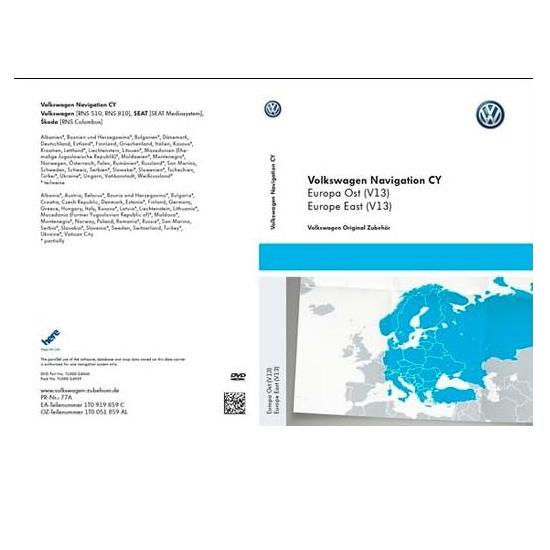 DVD-ROM Osteuropa (V13) Volkswagen/SEAT/Skoda Vers.2016 - 1T0051859AL