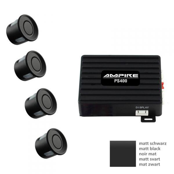 Ampire PS400C-MSW - Einparkhilfe 4 Sensoren mattschwarz